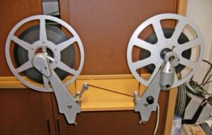 16mm Elektro-Filmumroller der Lytex-Werke (Draufsicht)