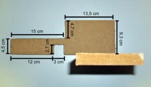 Elmo 700m-fähig (Ansicht der Grundplatte von oben mit Maßen)