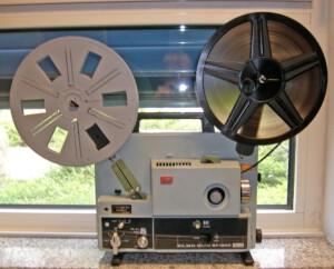 Projektor Elmo ST-1200 magnetic (Seitenansicht rechts mit Spulen)