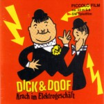 Front-Cover der Super 8-Kurzfassung von Dick & Doof: Krach im Elektrogeschäft