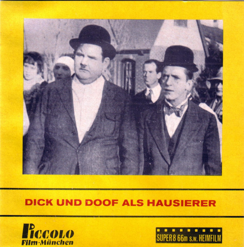 Front-Cover der Super 8-Kurzfassung von Dick & Doof als Hausierer
