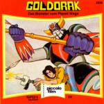 Front-Cover der Super 8-Kurzfassung von Goldorak: Das Monster vom Planeten Wega