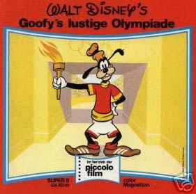 Front-Cover der Super 8-Kurzfassung von Goofys lustige Olympiade