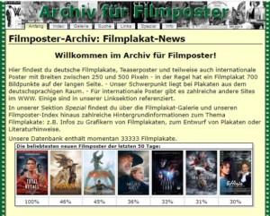 Screenshot Filmposter-Archiv