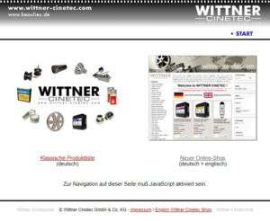 Screenshot Wittner Cinetec