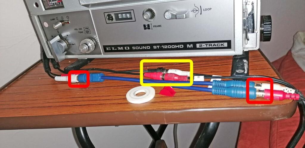 Aisführung der gleichzeitigen Mono- und Stereo-Verkabelung des Elmo ST-1200
