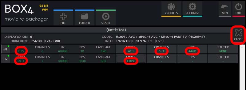BOX4 - Soundeinstellungen