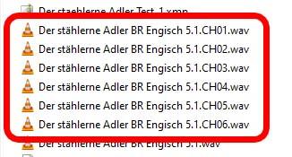 Die angelegten Dateien im Windows Explorer