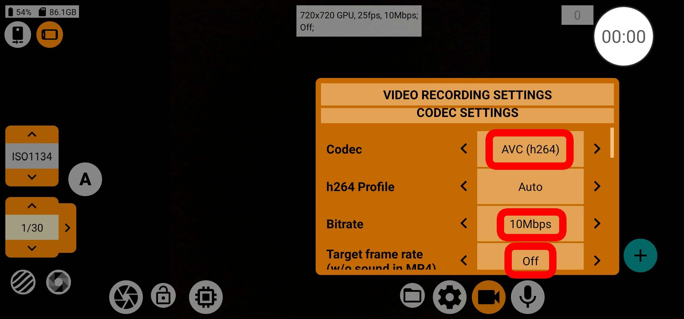 mcpro24fps - Codec-Settings