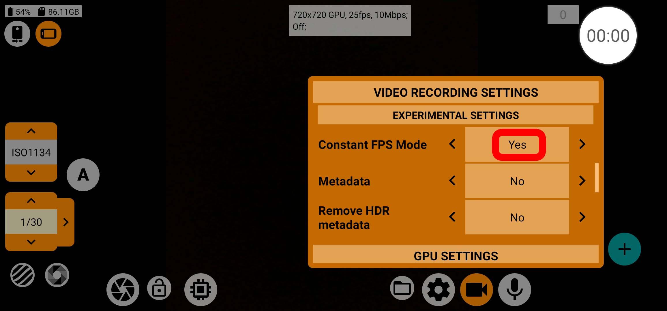 mcpro24fps - Konstante Framerate aktivieren