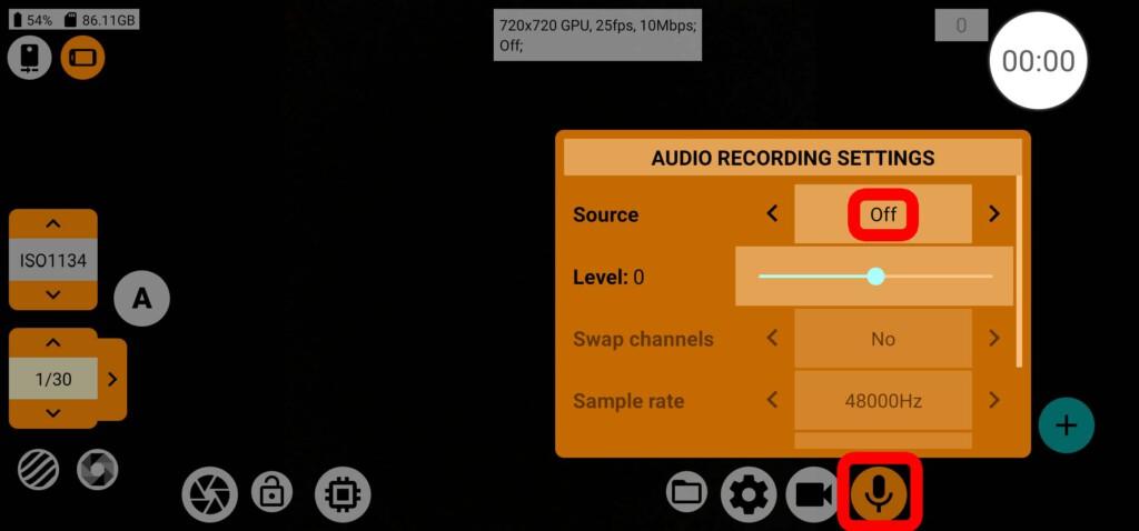 mcpro24fps - Audio-Settings