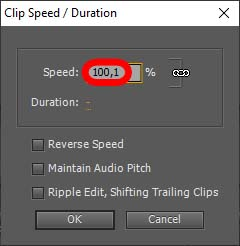 Tempoänderung auf genau 24 fps